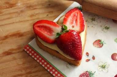 Sablé Breton à la crème vanille et aux fruits rouges