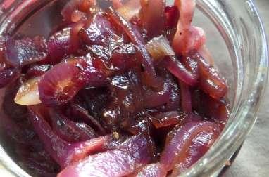 Oignons caramélisés au sirop d'érable et au balsamique