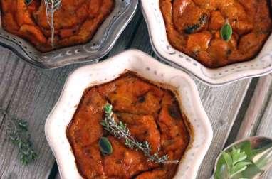 Flan d'aubergines et tomates à la provençale