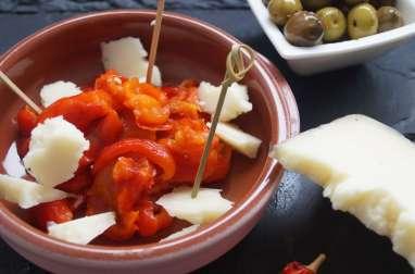 Poivrons rouges et manchego - tapas