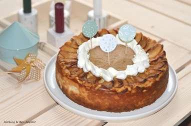 Big apple cheesecake – pomme, vanille et caramel