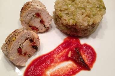 Saltimbocca de poulet à la sauge & risotto d'asperges