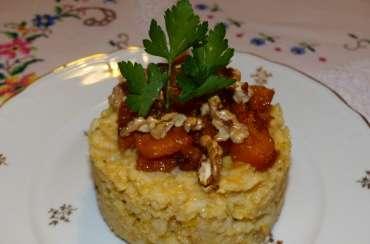 Risotto au butternut rôti au sirop d'érable et noix