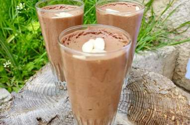 Mousse au chocolat, lait de coco