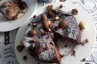 Gâteau au fromage et chocolat