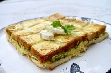 Croque quiche courgette chèvre