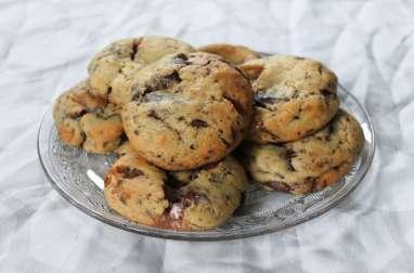 Cookies moelleux, chocolat et chamallow