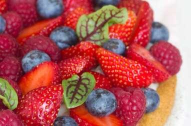 Sablé breton tarte aux fraises et framboises