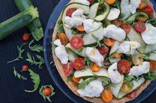 Tarte façon salade italienne