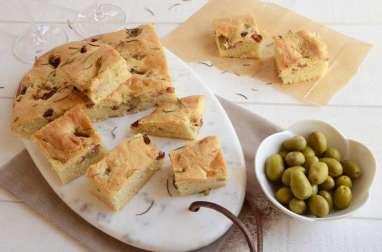 Fougasse olives et lardons