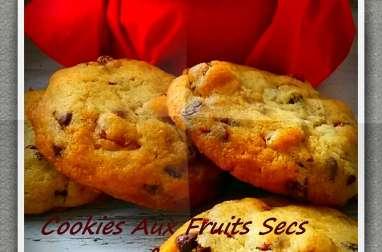 Cookies aux fruits secs et pépites de chocolat