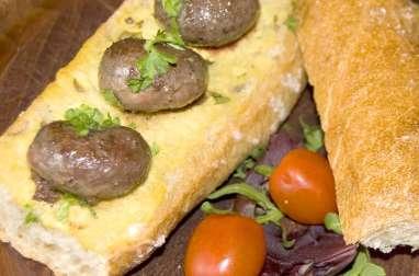 Rognons de mouflon sur pain moutardé