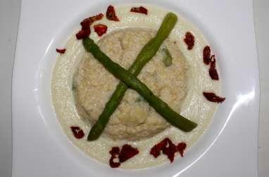 Quinoa aux asperges façon risotto et sa crème d'artichaut