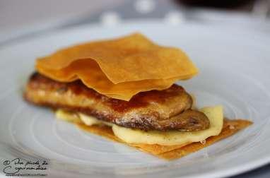Millefeuille de foie gras aux pommes
