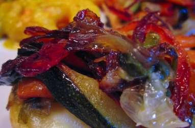 Mini-tatins de légumes