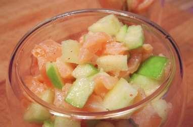 Verrine de saumon et pommes vertes