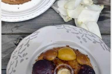 Tartelettes façon sablé aux prunes et pommes