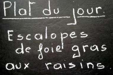 Escalopes de foie gras aux raisins