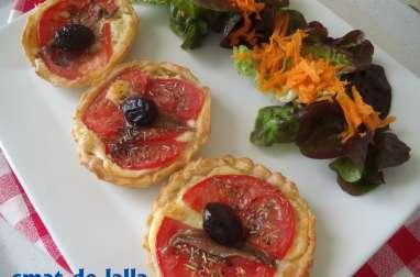 Mini tartes à la tomate