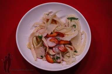 Salade de fenouil aux fraises et au parmesan