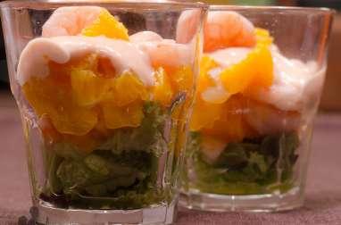 Salade de crevettes aux agrumes