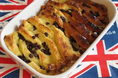 Brioche and butter pudding