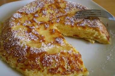 Gâteau aux pommes cuit a la poêle
