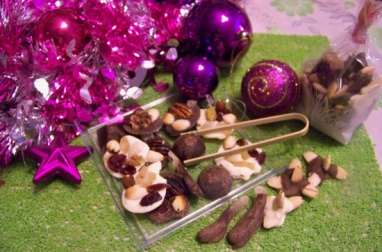 Etoiles en chocolat, mendiants chocolat