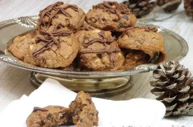 Délicieux biscuits aux trois chocolats