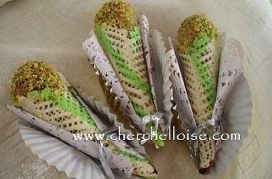 Cornets amandes & pistaches