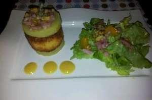 Chèvre pané en salade