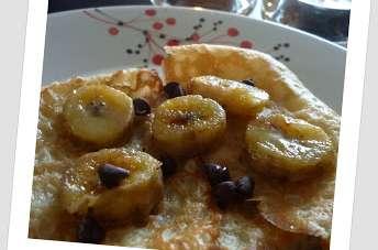 Crêpes Rhum Banane Chocolat