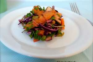 Salade de chou rouge aux fruits