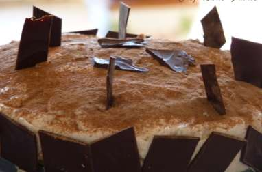 Gâteau au chocolat chocolat et aux pêches