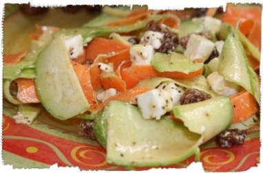 Tagliatelles de carottes et courgettes en salade