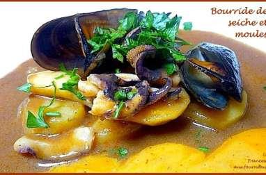Bourride marseillaise à la seiche et aux moules et sauce rouille