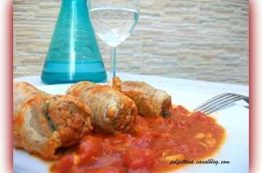 Roulés de viande à la napolitaine