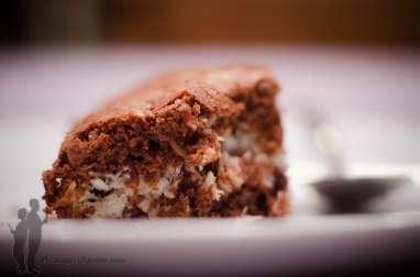 Brownie au chocolat et à la noix de coco