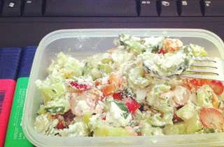 Salade au chèvre frais