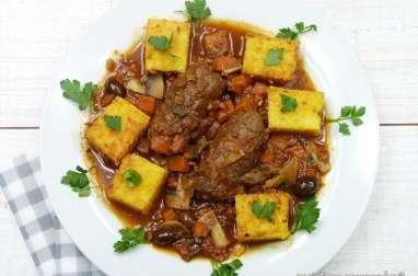 Caillettes (ou alouettes sans tête) et polenta gratinée