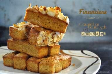 Financiers au caramel beurre salé et amandes