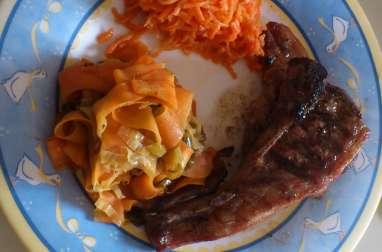 Duos de carottes et oignons nouveaux