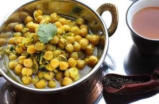 Curry de pois chiches au Darjeeling