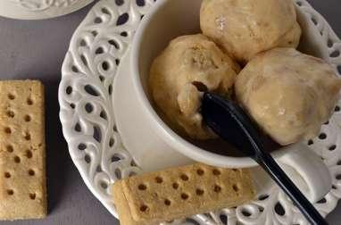 Glace mascarpone vanille-shortbread