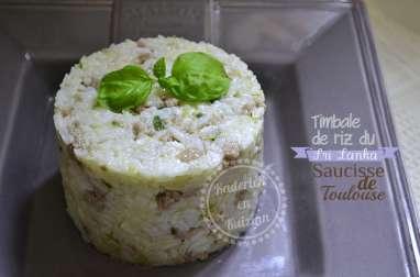 Timbale de riz à la saucisse de Toulouse