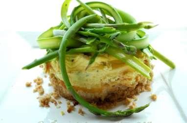 Cheesecake bio fraîcheur aux tagliatelles d'asperges