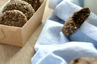 Oatmeal cookies black sesame