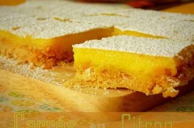 Carrés au citron faciles