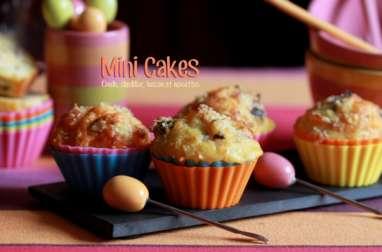 Mini-cakes à la dinde, bacon, cheddar et noisettes