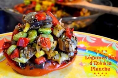 Légumes bio d'été à la plancha